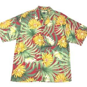 Tommy Bahama Floral Palm Silk Shirt